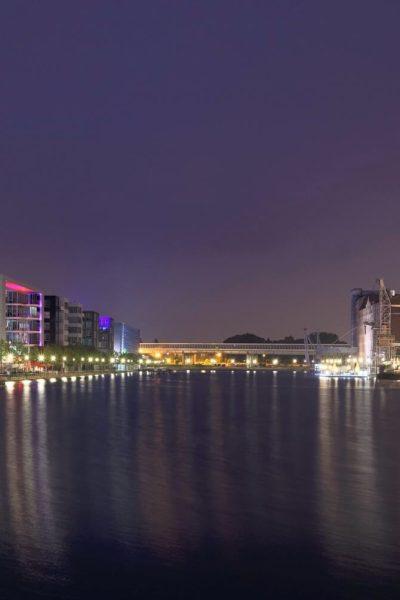 Jobs-Stellenangebote-Duisburg-Innenhafen-Zentral-Nacht