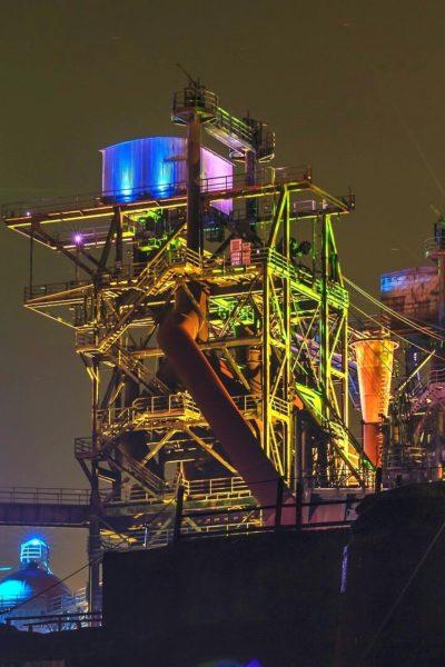 Jobs-Stellenangebote-Duisburg-Landschaftspark-Nord-Nacht-Illuminiert-Industrie-2